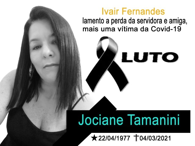 NOTA FALECIMENTO SERVIDORA JOCIANE TAMANINI