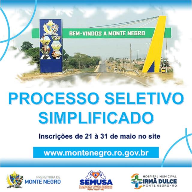 PROCESSO SELETIVO SIMPLIFICADO - SAÚDE