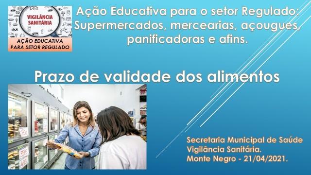 AÇÃO EDUCATIVA PARA SETOR REGULADO.